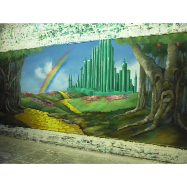 Emerald City Oz Backdrop