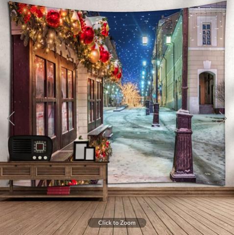 Dicken's Christmas Backdrop