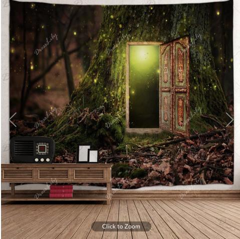 Door in Tree Backdrop