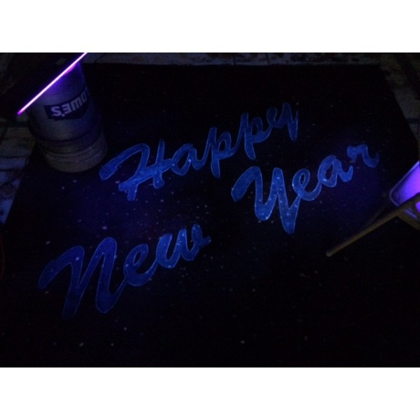 Happy New Year Star Scape Backdrop