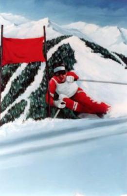 Snow Skier Backdrops