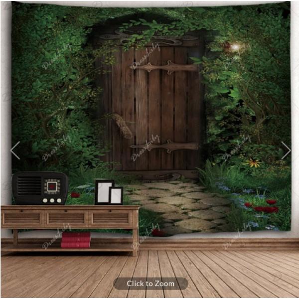 Secret Garden Door Backdrop