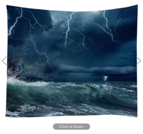 Storm at Sea Backdrop