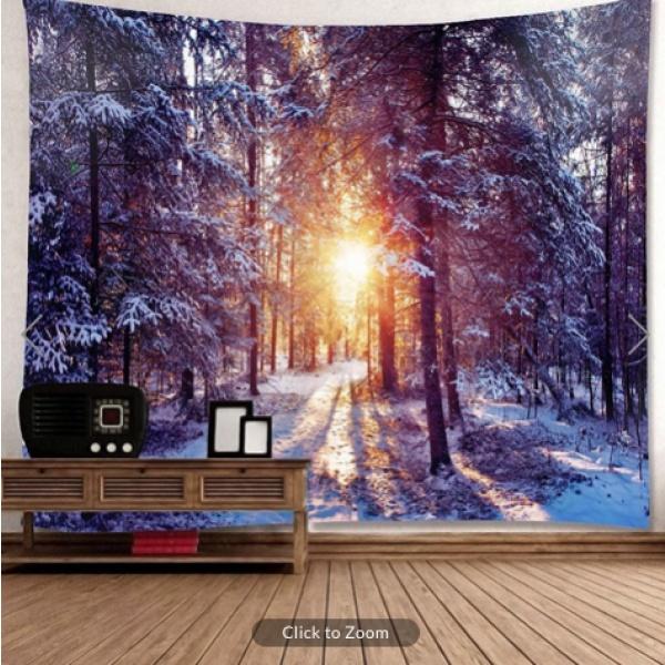 Winter Lampost Light Backdrop