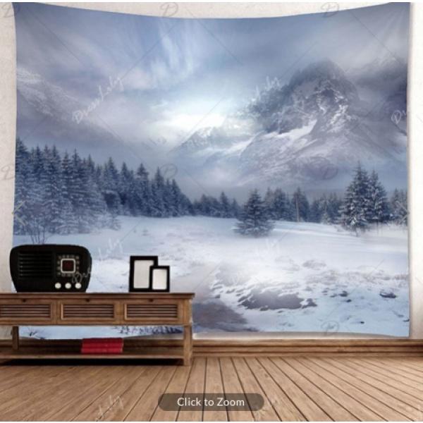 Winter Mountains Backdrop