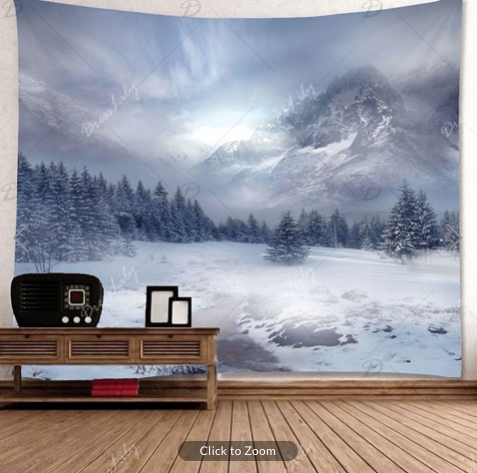 Winter Mountains Backdrop