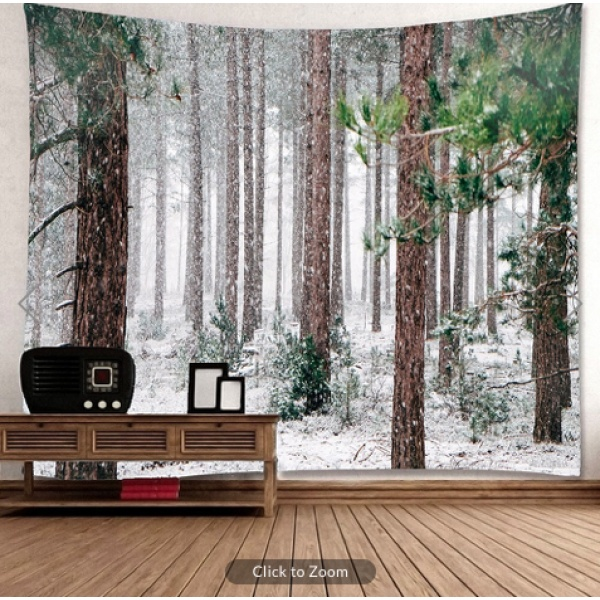 Winter Pines Backdrop