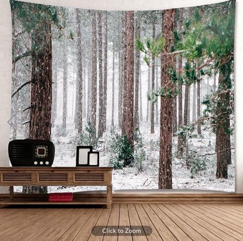 Winter Pines Backdrop