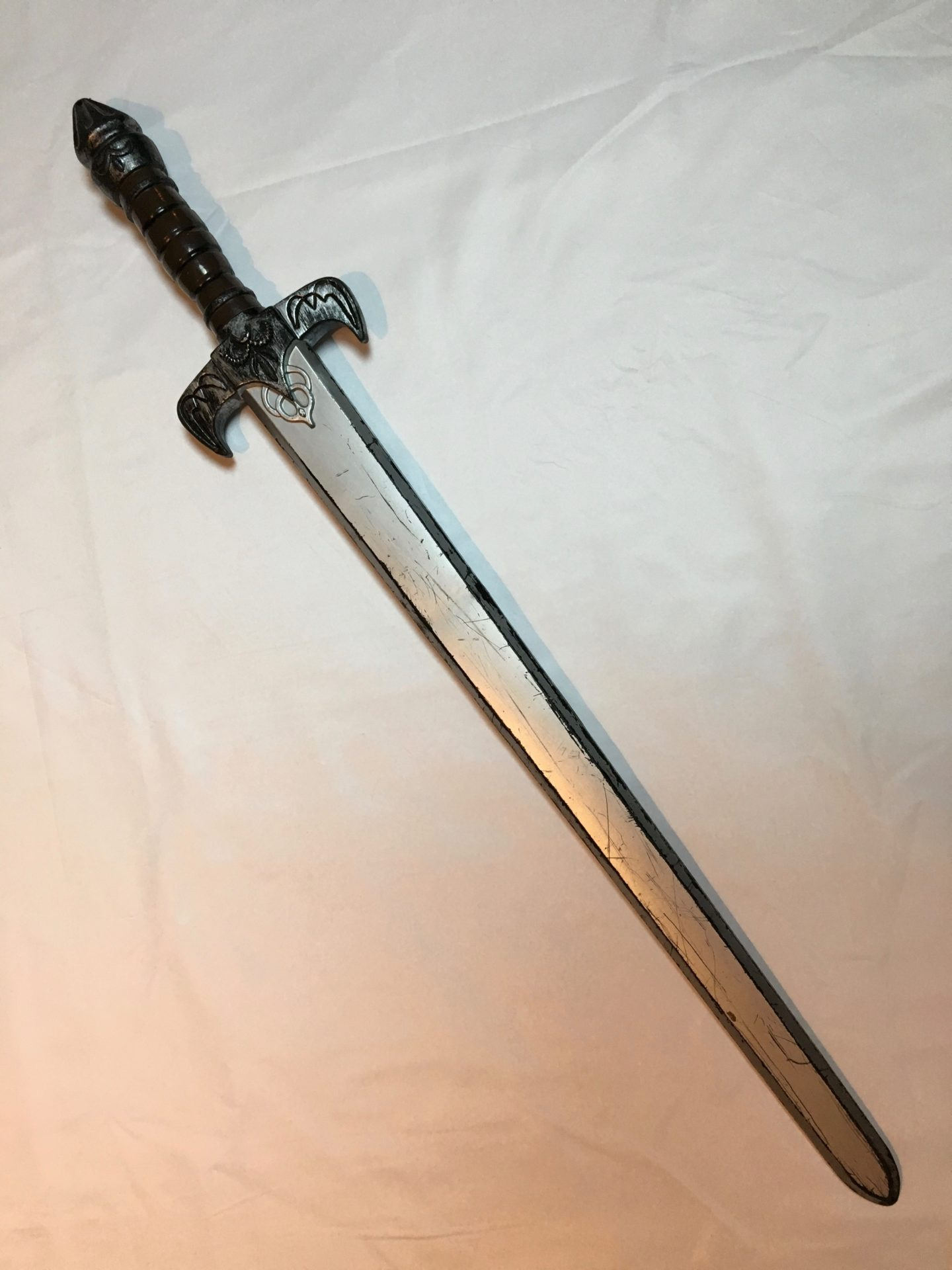 Medieval Sword, Silver Brown Handle