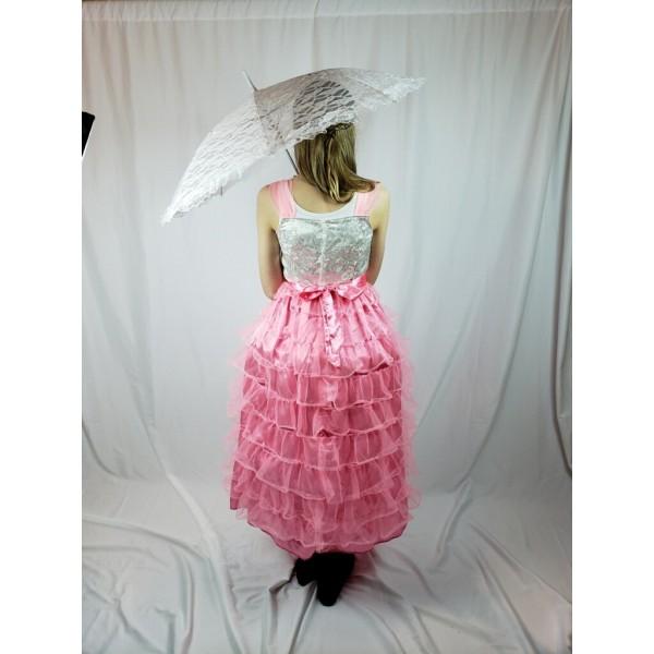 Victorian Child Dress, Pink White