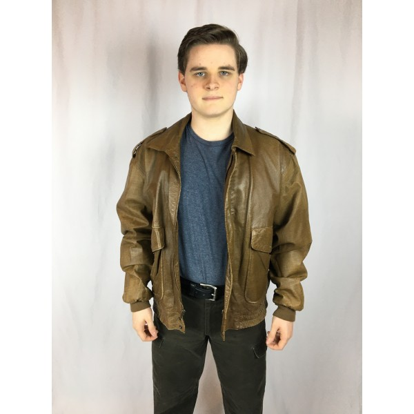 Leather Flight Jacket 1