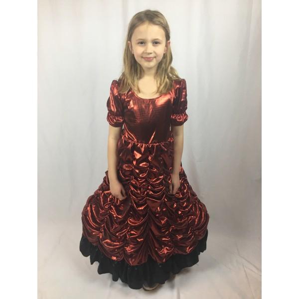 50's Red Shimmer Dress 2