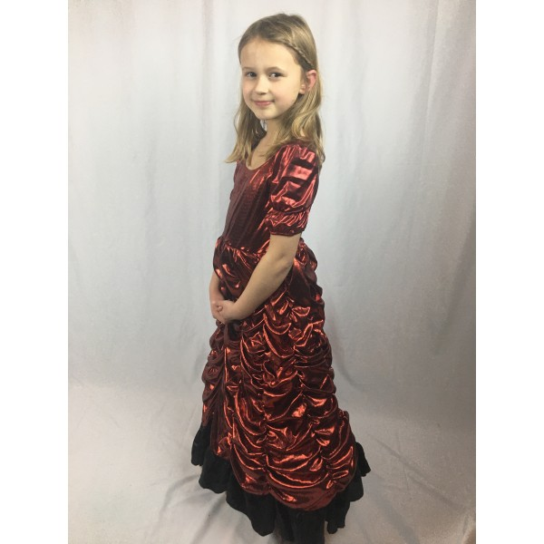 50's Red Shimmer Dress 3