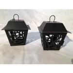 metal lantern pair